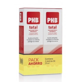 Phb total duplo pasta dental anticaries 2x75 ml