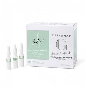 Germinal Acción Profunda Antiaging SPF 15 Piel Seca tratamiento global 30 ampollas