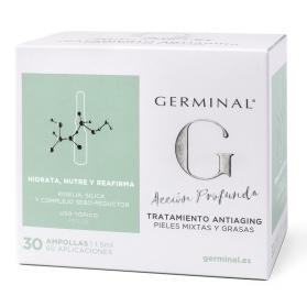 Germinal acción profunda tratamiento antiaging pieles mixtas y grasas 30 ampollas x 1,5 ml