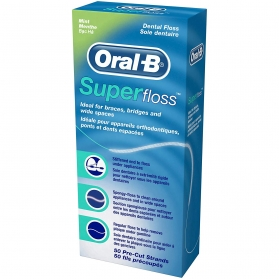 Oral-B Super Floss hilo dental 50 unidades