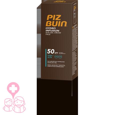 Piz Buin Hydro Infusion gel crema facial SPF50 50 ml rápida absorción
