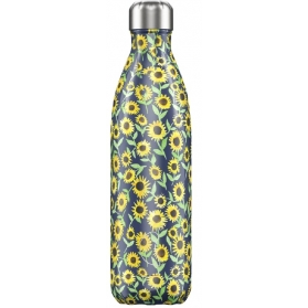 Chilly´s bottle summer botella termo de acero inoxidable girasoles 750 ml