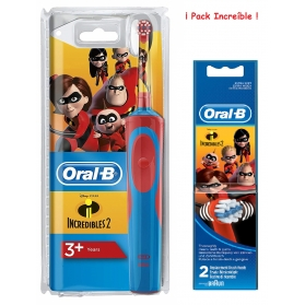 Oral b pack increíble cepillo infantil vitality + 2 recambios