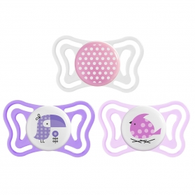 Chicco physio forma light chupete silicona rosa 2-6 m 2 uds