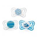 Chicco chupete PhysioForma Light ergonómico silicona azul 6-16 M 2 uds