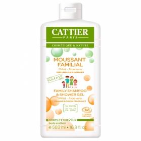 Cattier champú y gel de ducha familiar sin sulfatos 500 ml con aloe vera
