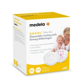 Medela discos de lactancia absorbentes Safe&Dry Ultra Thin 60uds