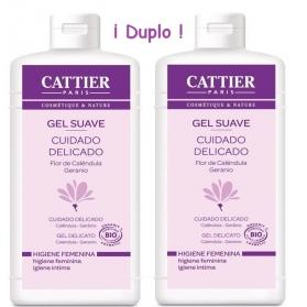 Cattier DUPLO gel suave Higiene íntima delicada 200 ml CAT024 con Geranio y Aciano