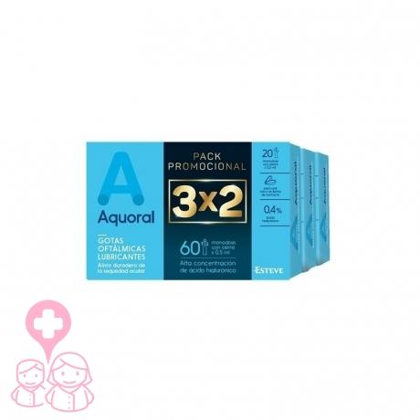 Aquoral triplo monodosis con ácido hialurónico 0.4% 3x20 unidades
