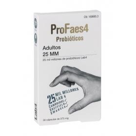 Profaes4 probiótico adultos 25 mm 30 cápsulas con lab4 y fructoligosacáridos