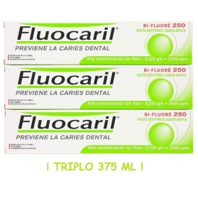Fluocaril TRIPLO pasta dental 3x125 ml TOTAL 375 ml