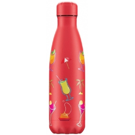 Chilly´s Bottle Pool Party Roja botella termo 500 ml