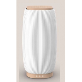 Pranarom difusor jazz cerámica blanca y bambú