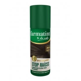 Farmatint stop raíces spray 75 ml castaño oscuro