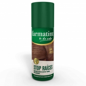 Farmatint stop raíces spray 75 ml rubio cobrizo