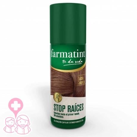 Farmatint stop raíces spray 75 ml rubio cobrizo