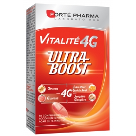 Forté pharma vitalité 4g ultra boost energía a tope 30 comprimidos