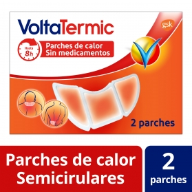Voltatermic parches de calor cervical y lumbar sin medicamentos 2 uds