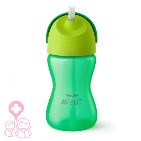 Avent vaso con pajita dino verde 12 m+ 300 ml scf798/01
