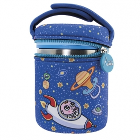 Laken junior termo para sólidos funda de neopreno 1000 ml space oddity