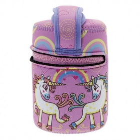 Laken junior termo para sólidos funda de neopreno 500 ml unicornios