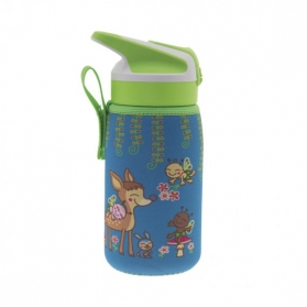 Laken junior summit botella térmica con funda de neopreno 0,35l bambinos