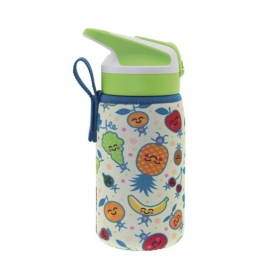Laken junior summit botella térmica con funda de neopreno 0,35l fruitutitos
