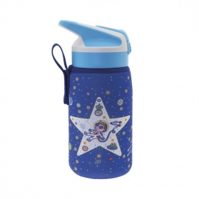 Laken junior summit botella térmica con funda de neopreno 0,35l space oddity