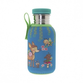 Laken junior botella de acero inoxidable con funda neopreno 0,5l bambinos
