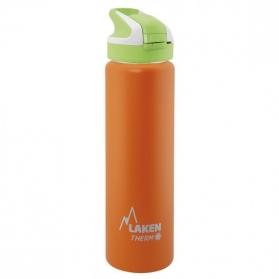 Laken summit botella térmica tapón automático 12h 0,75l color naranja