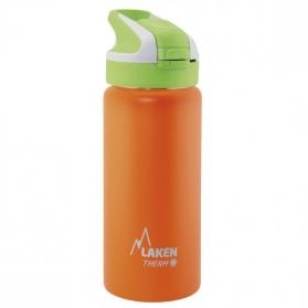 Laken summit botella térmica tapón automático 12h 0,5l color naranja