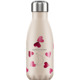 Chilly´s bottle emma bridgewater corazones botella termo de acero inoxidable 260 ml