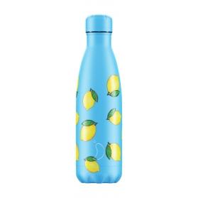 Chilly´s bottle limones botella termo de acero inoxidable 500 ml