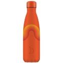 Chilly´s bottle retro naranja botella termo de acero inoxidable 500 ml
