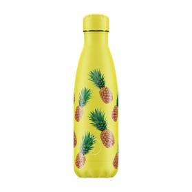 Chilly´s bottle piñas botella termo de acero inoxidable 500 ml