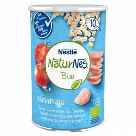 Naturnes bio nutripuffs cereales con tomate 35 g