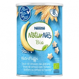 Naturnes bio nutripuffs cereales con plátano 35 g