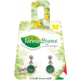 Farma Bijoux Pendientes Hipoalergénicos Esmeralda be p705c15