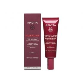 Apivita Wine Elixir crema Antiarrugas & Reafirmante SPF30 con Polifenoles de la vid de Santorini 40 ml
