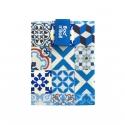 Rolleat bocngo porta bocadillos ecológico patchwork azul