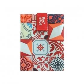 Rolleat bocngo porta bocadillos ecológico patchwork naranja