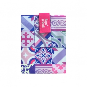 Rolleat bocngo porta bocadillos ecológico patchwork rosa