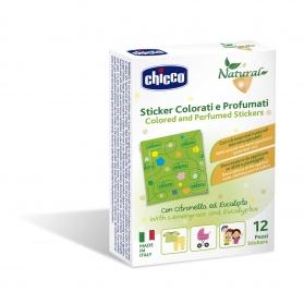 Chicco Parches protectores antimosquitos perfumados 12 uds con Eucalipto y Citronella