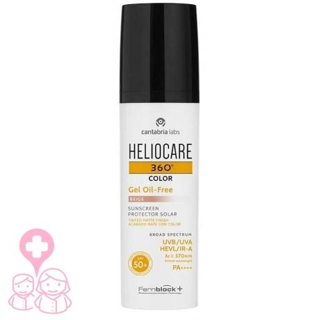 Heliocare 360º spf 50+ color gel oil-free protector solar beige 50 ml