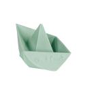Oli and Carol Origami Boat Mint juguete de baño caucho Natural 100 % Hevea Ecológico