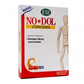 No Dol Curcúma 10 cápsulas líquidas antiinflamatorias con 1440mg de Curcúma