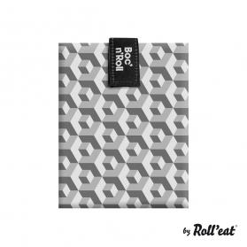 Roll´eat´boc´n go porta bocadillos ecológicos tiles negro