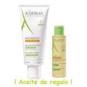 A-Derma Exomega Control Bálsamo 200 ml + REGALO Aceite de baño 100 ml