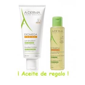A-Derma Exomega Control leche 200 ml + REGALO Aceite de baño 100 ml