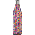 Chilly´s bottle floral wild rose botella termo de acero inoxidable 500 ml